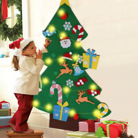 Kids DIY Felt Christmas Tree with Ornaments Xmas Gift Wall Hanging Home Decor