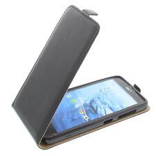 Bolsa para Acer Liquid Z520 Funda Protectora Teléfono Móvil con Tapa Negra