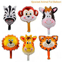 6PCS/set Animal Foil Balloons Helium Jungle Baby Shower Birthday Party Decor Hot