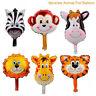 6PCS/set Animal Foil Balloons Helium Jungle Baby Shower Birthday Party Decor Hot