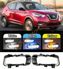 For Nissan Kicks 2017 2018- 2020 Fog Lamp Bracket LED DRL Daytime Running Light