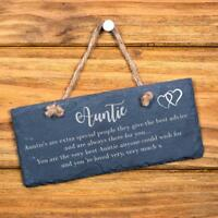Extra special auntie sentiment hanging slate gift SL-RC7