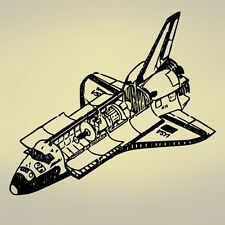"Vinyl Wall Decal Sticker Space Shuttle 40""x36"""