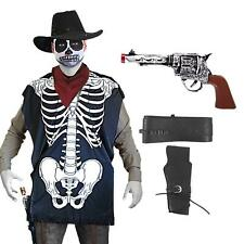 Zombie Cowboy Undead Halloween Horror Wild West Costume Ghost Skeleton  Devil