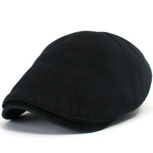 ililily Cotton washing Flat Cap Cabbie Hat Gatsby Ivy Irish Hunting Newsboy M XL
