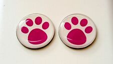 anneys ~TWO - GOLF  BALL  MARKERS - burgundy paws ~
