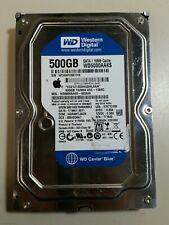 """WD Caviar Blue WD500AAKS SATA 500GB 3.5"""" Hard Drive #H0810-01"""