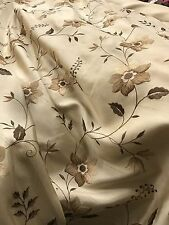 12 Metres Exclusive Curtain Fabric Quality Delano Heavy Faux Silk Embroidered