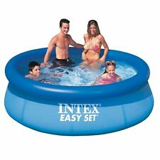 "Intex Easy Set 8"" x 30"" Paddling Family Inflatable Swimming Pool Summer Garden"