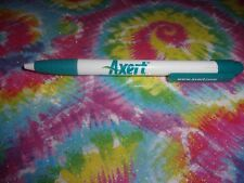 DRUG REP DOODLES PLASTIC CLIKER WHITE TEAL AXERT INK PEN
