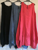 "New Plus Size LAGENLOOK Quirky BALLOON Shaped BOHO Tulip LINEN Dress XXL 50"""