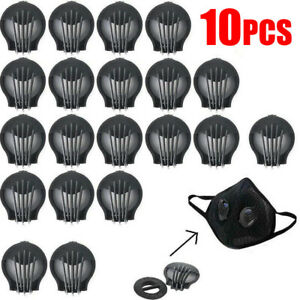 Black Replaceable Sports Breathing Valve 10PCS DIY Material Anti Pollution Dust