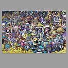 8x12 WALDO, graffiti street pop psychedelic tattoo art where's surreal drawing