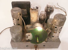 "vintage* ""FAMOUS"" CATHEDRAL 5 TUBE RADIO: Non-working CHASSIS w/ 5 TUBES"