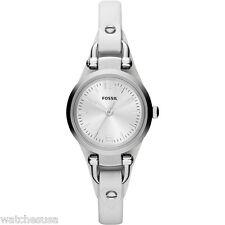 Fossil Watches Women's Georgia White ES3267 Mini Three Hand Leather Watch