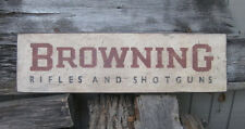 PRIMITIVE VINTAGE BROWNING RIFLES & SHOTGUNS REPLICA TRADE SIGN