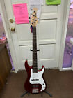 Austin 5 String Electric Bass Guitar- RED - Fire Sale BC105 LOCAL PICKUP for sale
