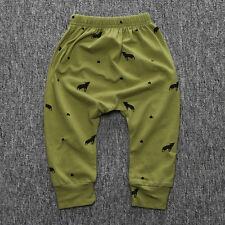 Cute Toddler Baby Boy Girl Kid Long Casual Bottom Harem Pants Trousers Leggings