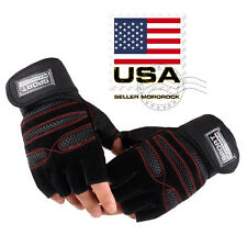 Wrist Wrap Training Sports Fitness Workout Exercise Weightlifting Gym Gloves