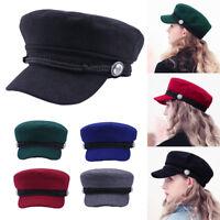 Women Winter Beret Cap Solid Color Soft Hat Lady Stylish Visor Beret Hat Fashion