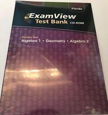 Prentice Hall Algebra 1 Algebra 2 & Geometry Exam View Test Bank CD Examview FL