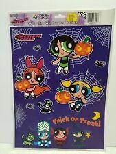 POWERPUFF GIRLS WINDOW CLINGS HALLOWEEN DECORATIONS 2001 cartoon network usa