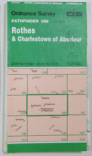 1989 OS Ordnance Survey 1:25000 Pathfinder map Rothes & Charlestown 180 NJ 24/34
