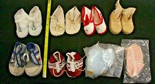 Vintage 8 Pairs Doll Shoes