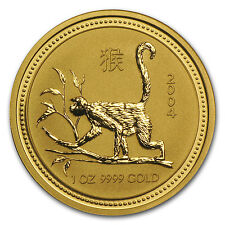 2004 1 oz Gold Lunar Year of the Monkey BU (Series I) - SKU #132