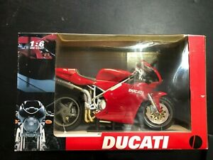 NEW-RAY 1:6 SCALE DUCATI 998 DIECAST with PLASTIC MOTORCYCLE NEWRAY MIB