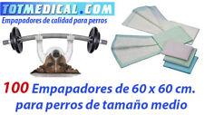100 Empapadores absorbentes de 60 x 60 cm. para perros
