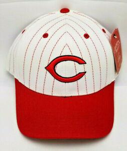 """Cincinnati Reds HAT """"PRINTED PINSTRIPE"""" Adult Adjustable Hat"""