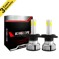 4-Sides H4 LED Headlight Kit Bulbs High Low Beam 6500K 9003 HB2 2500W 375000LM P