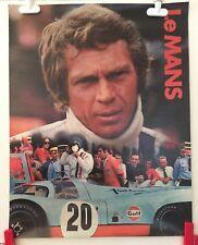 LE MANS RACING MOVIE POSTER - STEVE McQUEEN - 1971 ORIGINAL