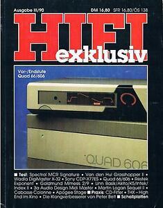 HIFI exklusiv: Ausgabe III / 90 => Wadia, Spectral, Quad, Restek, Goldmund, Linn