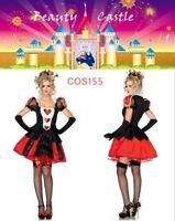 Women's Queen of Hearts Deluxe Alice in Wonderland Party Fancy Dress Set COS155