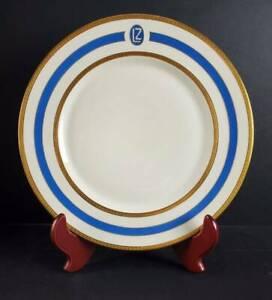 """1928 GRAF ZEPPELIN LZ 127 HEINRICH ELFENBEIN PORCELAIN DINNER PLATE, 11"""", #4"""