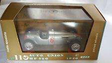 1/43 BRUMM AUTO UNION TIPO C HP 520 DEL 1936 RUOTE APPAIATE #6 R110 SERIE ORO