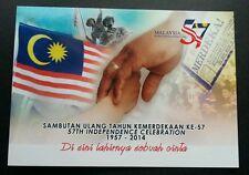 Malaysia 57th Independence Celebration 2014 Flag Nation (postcard) MNH