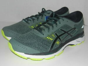 ASICS Gel-Kayano 24 Running Shoes Dark Forest /Black/Yellow, Men's 9.5