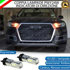 COPPIA LAMPADE LED PWY24W AUDI Q7 4M CANBUS 10 LED FRECCE ANTERIORI NO ERRORE