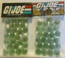 2 Bags Of G.I.Joe A Real American Hero Promo Marbles