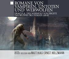 Livre Audio CD Romans de Vampiren, Untoten & Werwölfen 8CDs Dracula, Dorian Gray