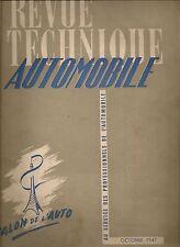 REVUE TECHNIQUE AUTOMOBILE 18 RTA 1947 SALON DE 1947 + ETUDE HOTCHKISS 680 & 686