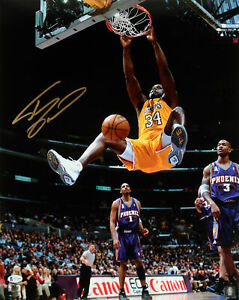 Lakers Shaquille O'Neal Authentic Signed 16x20 Vs Suns Photo Autographed BAS