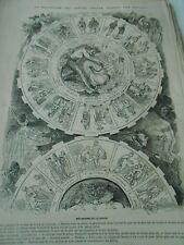 Gravure 1867 - Le mécanisme des grèves cercle vicieux par Bertall