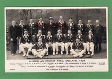 Australia Australian Cricket Team 1934 England RP pc Photo Work Ref H302