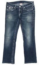 EUC Womens True Religion 'DISCO BILLY BIG T' Indigo Jeans Size 30 L29 RRP $499