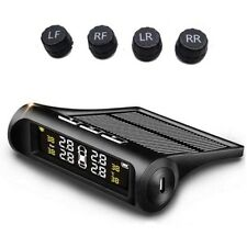 Tpms Car Tire Pressure Monito System Solar Power Charging With 4 Advanced Exteo7