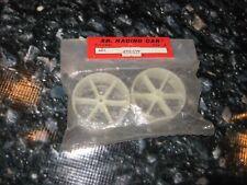 Vintage RC Rare SG White Nylon Wheels (2) 498.537